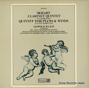 WLACH, LEOPOLD mozart; clarinet quintet in a major, k.581