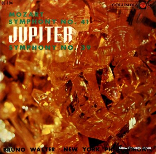 WALTER, BRUNO mozart; symphony no.41 jupiter
