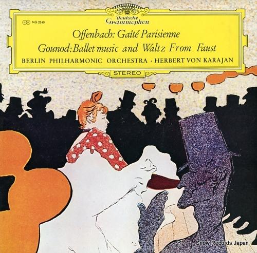 KARAJAN, HERBERT VON offenbach; gaite parisienne, gounod; ballet music and waltz from faust