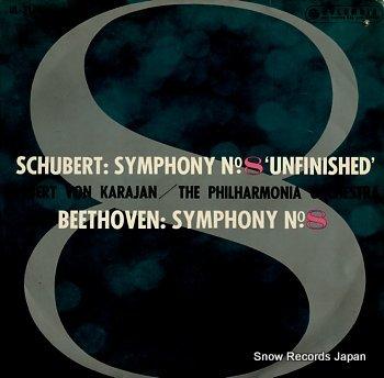 KARAJAN, HERBERT VON schubert; symphony no.8 unfinished