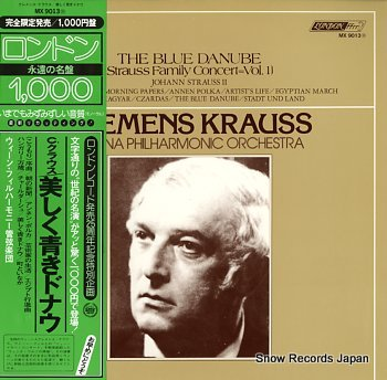 KRAUSS, CLEMENS blue danube, the - strauss family concert vol.1