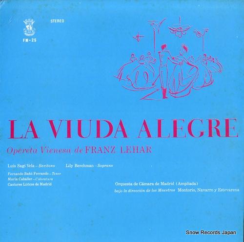 BERCHMAN, LILY la viuda alegre, opereta vienesa de franz lehar FM-25 - front cover