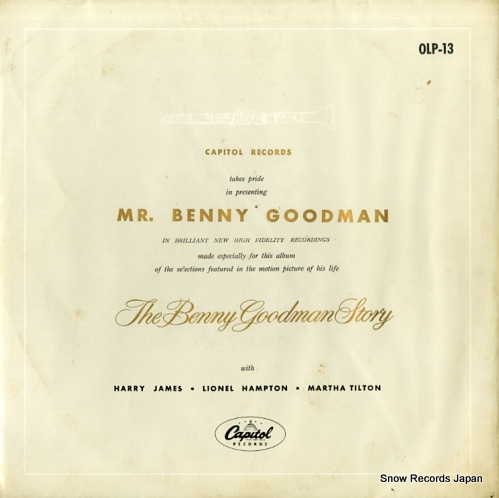 GOODMAN, BENNY the benny goodman story OLP-13 - front cover