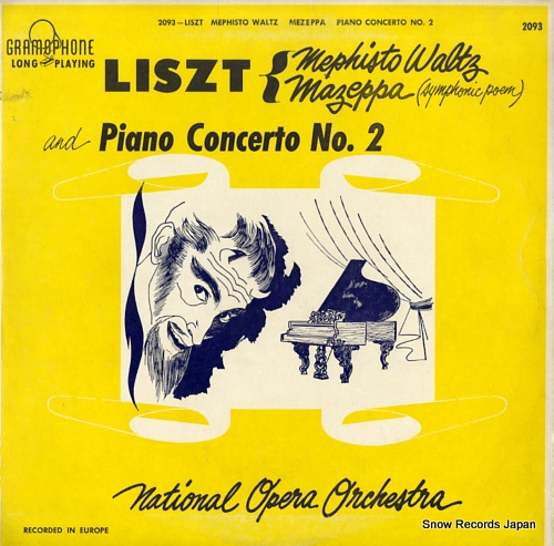 NATIONAL OPERA ORCHESTRA liszt; mephisto waltz GRAMOPHONE2093 - front cover