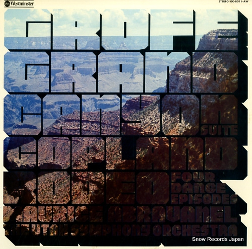 ABRAVANEL, MAURICE grofe; grand canyon suite OC-8011-AW - front cover