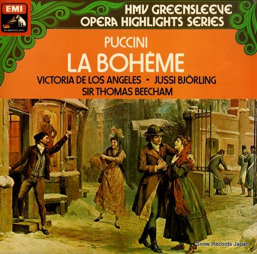 BEECHAM, THOMAS puccini; la boheme ESD7023 - front cover