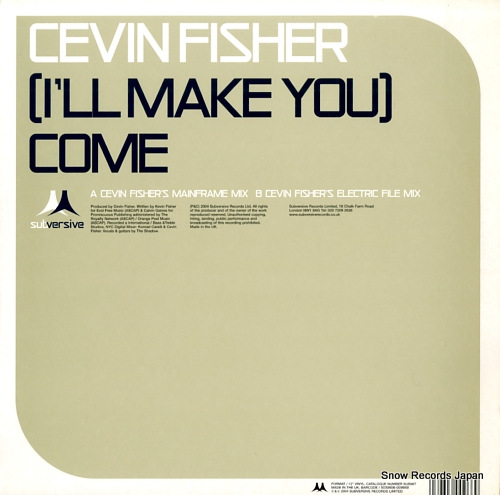 FISHER, CEVIN (i'll make you) come SUB96T - front cover