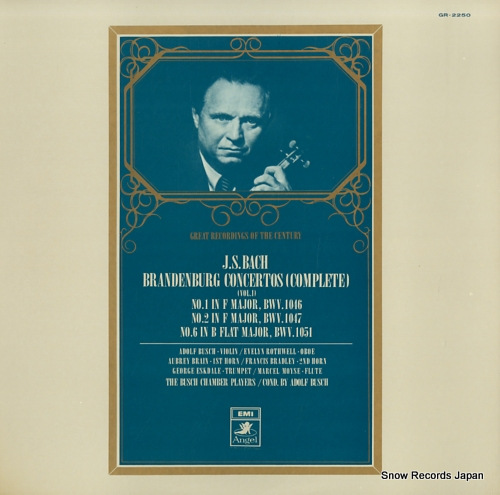 BUSCH, ADOLF bach; brandenburg concertos (complete) vol.1 GR-2250 - front cover