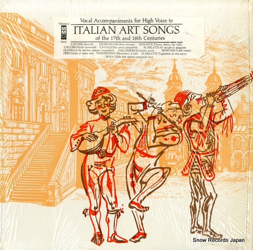 WUSTMAN, JOHN italian art songs of the 17th and 18th centuries MMO7013 - front cover