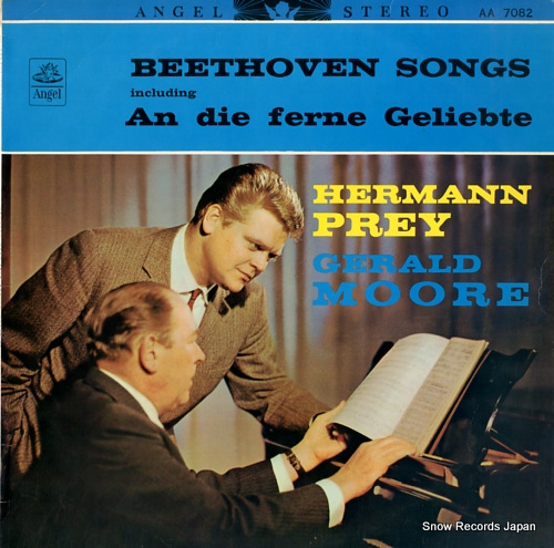 PREY, HERMANN beethoven songs AA-7082 - front cover