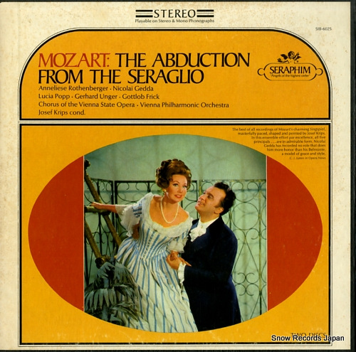 KRIPS, JOSEF mozart; the abduction from the seraglio SIB-6025 - front cover