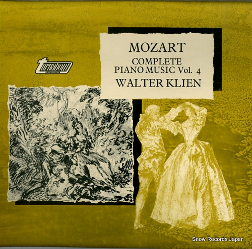 KLIEN, WALTER mozart; complete piano music vol.4 TV37004S - front cover