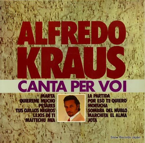 KRAUS, ALFREDO canta per voi GB502 - front cover