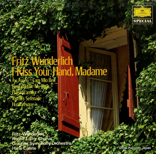 WUNDERLICH, FRITZ i kiss your hand, madme MGW5269 - front cover