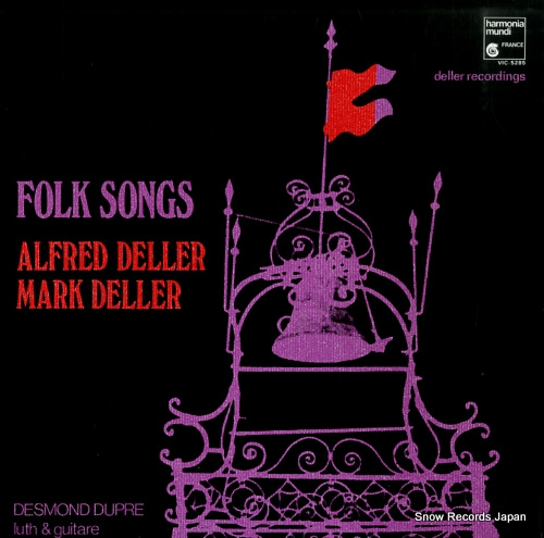 DELLER, ALFRED folk songs VIC-5285 - front cover