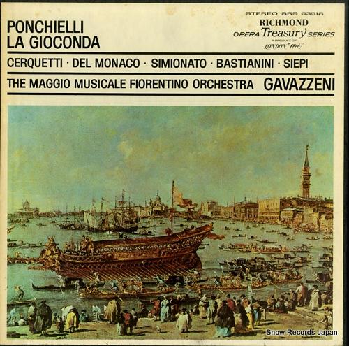 GAVAZZENI, GIANANDREA ponchielli; la gioconda SRS-63518 - front cover