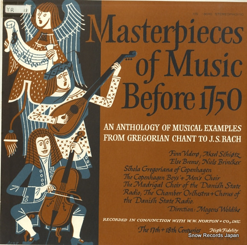 WOLDIKE, MOGENS masterpieces of music before 1750 record 3: 17th and 18th centuries HSE9040 - front cover