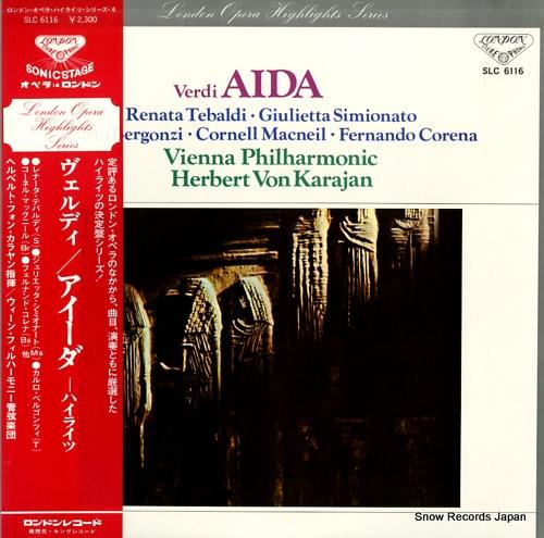 KARAJAN, HERBERT VON verdi; aida highlights SLC6116 - front cover