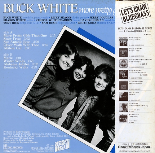 WHITE, BUCK more pretty girls than one PA-23007 - back cover