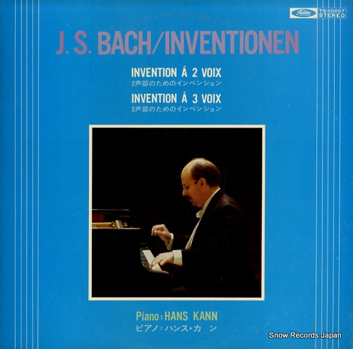 KANN, HANS j.s.bach; inventionen TS-50007 - front cover