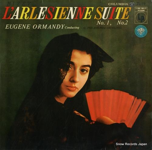 ORMANDY, EUGENE bizet; l'arlesienne suite no.1, no.2 ZL-19 - front cover