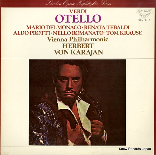 KARAJAN, HERBERT VON verdi; othello highlights SLC6117 - front cover