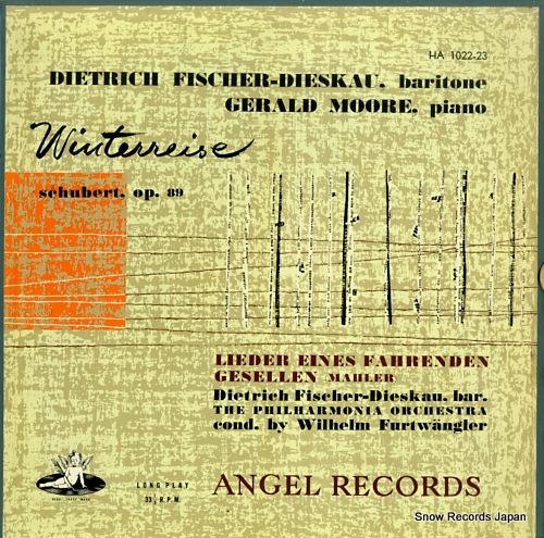 FISCHER-DIESKAU, DIETRICH schubert; die winterreise HA1022-23 - front cover