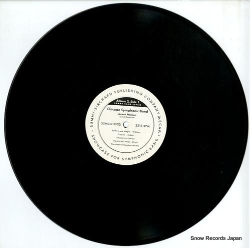 CHICAGO SYMPHONIC BAND showcase for symphonic band album 2 SUMCOR002 - disc