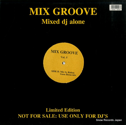 DJ ALONE mix groove vol.5 SIA11 - back cover