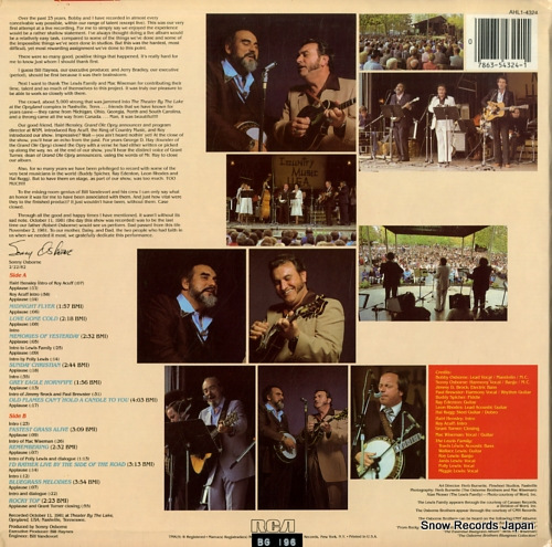 OSBORNE BROTHERS, THE bluegrass spectacular AHL1-4324 - back cover