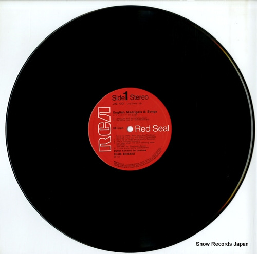 DELLER CONSORT madrigaux & chansons d'angleterre JRZ-2009 - disc
