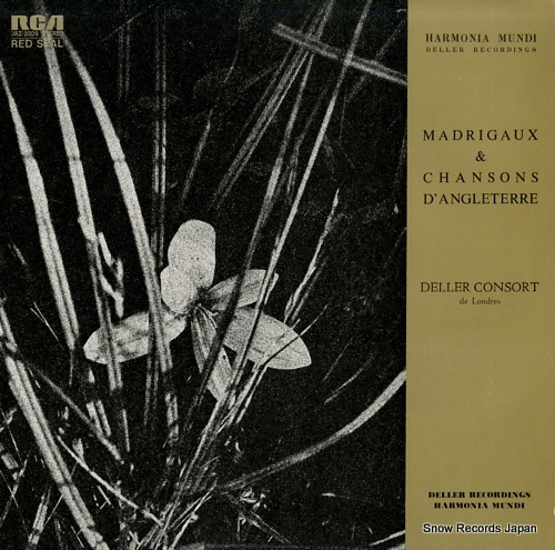 DELLER CONSORT madrigaux & chansons d'angleterre JRZ-2009 - front cover