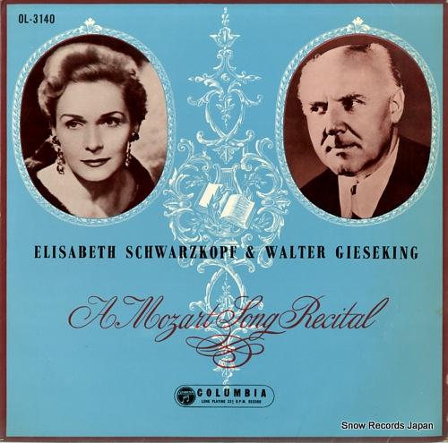 SCHWARZKOPF, ELISABETH a mozart song recital OL-3140 - front cover