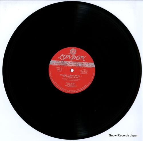MEHTA, ZUBIN brahms; symphony no.1 in c minor, op.68 SLA1111 - disc