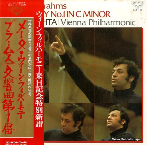 MEHTA, ZUBIN brahms; symphony no.1 in c minor, op.68 SLA1111 - front cover