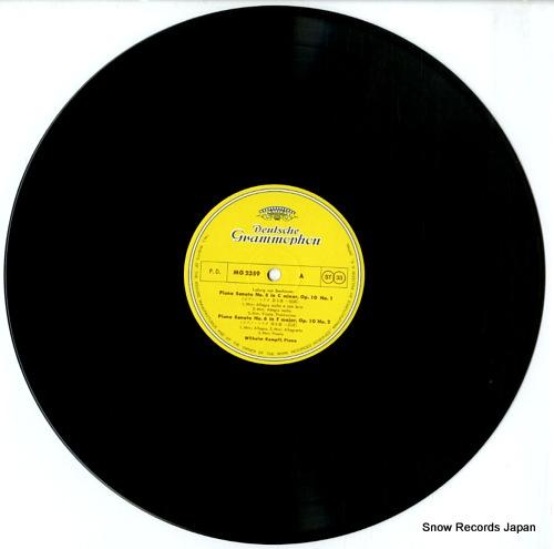 KEMPFF, WILHELM beethoven; piano sonatas 3. MG2359 - disc