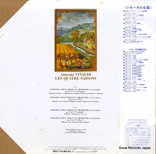SCIMONE, CLAUDIO vivaldi; les quatre saisons REL-8 - back cover