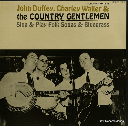 COUNTRY GENTLEMEN, THE sing & play folk songs & blueglass YW-7008-FW - front cover