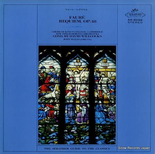 WILLCOCKS, DAVID faure; requiem, op.48 AA.5098 - front cover