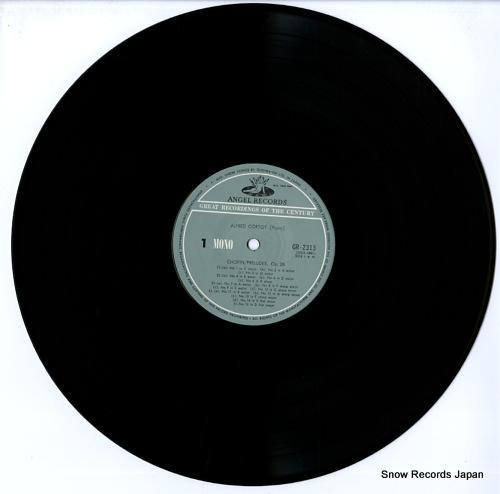 CORTOT, ALFRED chopin; preludes, op.28 etc. GR-2313 - disc