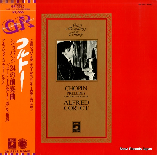 CORTOT, ALFRED chopin; preludes, op.28 etc. GR-2313 - front cover
