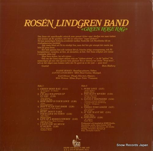 ROSEN LINDGREN BAND green rose rag MLPH1257 - back cover