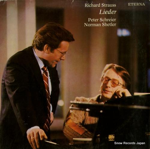 SCHREIER, PETER r.strauss; lieder 827470 - front cover