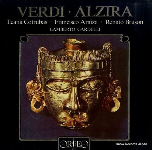 GARDELLI, LAMBERTO verdi; alzira S057832H - front cover