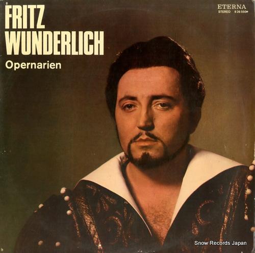 WUNDERLICH, FRITZ opernarien 826550 - front cover