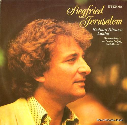 JERUSALEM, SIEGFRIED r.strauss; lieder 827784 - front cover