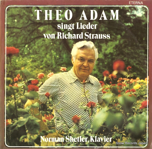 ADAM, THEO singt lieder von richard strauss 827694 - front cover