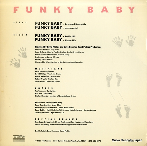 DOUBLE TAKE funky baby TSR854 - back cover