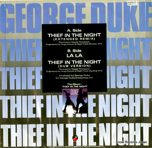 DUKE, GEORGE thief in the night EKR5T / 966911-0 - back cover
