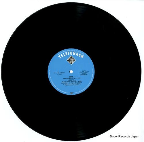 ALBAN BERG QUARTETT, WIEN alban berg; streichquartett, op.3 K17C8327 - disc